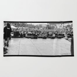 Crowd Shot from Backstage Beach Towel