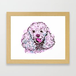 The happy Poodle Love of My Life Framed Art Print