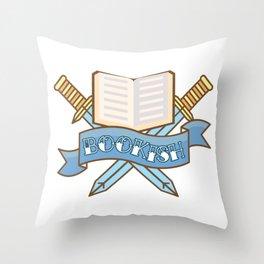 Slayer of TBR Piles Throw Pillow