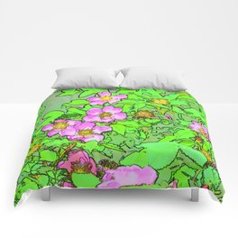 Sitka Rose Watercolor Comforters