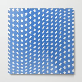 American Blue and White Stars Metal Print
