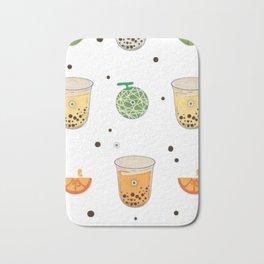 Pattern Bubble Tea Bath Mat