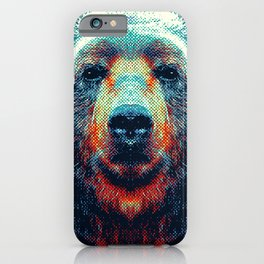 Bear - Colorful Animals iPhone Case