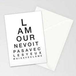 L'amour ne voit pas avec les yeux mais avec l'âme Stationery Cards