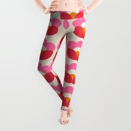 Flowers geometry - retro pattern no2 Leggings