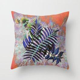 Crystal Ferns Throw Pillow