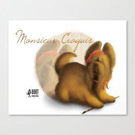 Monsieur Croquis Canvas Print