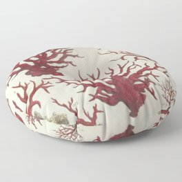 Naturalist Red Coral Floor Pillow