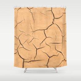 Yellow Paint Cracks Shower Curtain