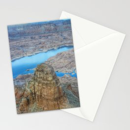 Aerial shot of Lake Powell Stationery Cards