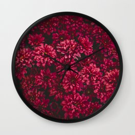 Painting The Flowers Red Wall Clock