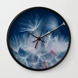 Snow Dandelion Wall Clock