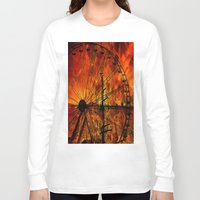 ferris wheel Long Sleeve T-shirts featuring Ferris wheel by  Agostino Lo Coco