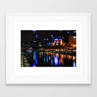 melbourne Framed Art Prints featuring Melbourne  by Komorebi Photographics