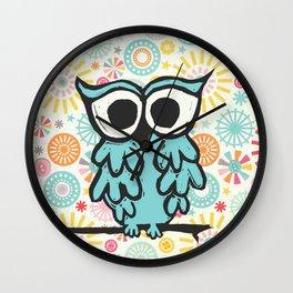 Jazzy Owl Wall Clock