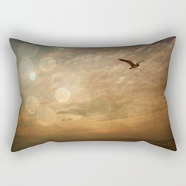 birds eye view mug Rectangular Pillow