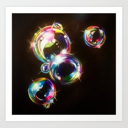 Bright Bubbles Art Print