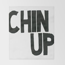 Chin Up Throw Blanket