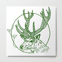 Forest Lover's Deer Metal Print
