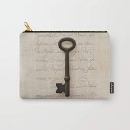 Solo Key Script Carry-All Pouch