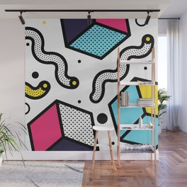 Memphis Pop-art Pattern II Wall Mural