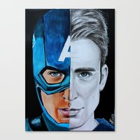 steve rogers Canvas Prints featuring Steve Rogers by Goolpia