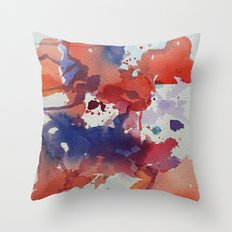 I dream in watercolor E Throw Pillow