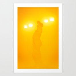 A muse through the fog Art Print
