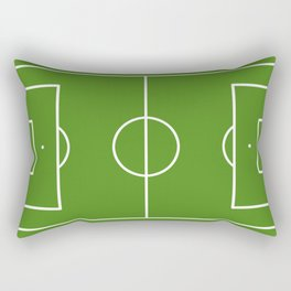 Football field fun design soccer field Rectangular Pillow
