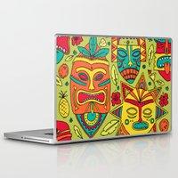 tiki Laptop & iPad Skins featuring Tiki tiki by Binnyboo