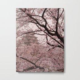 Pink Himeji Dream Metal Print