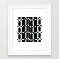 bauhaus Framed Art Prints featuring Bauhaus Type Black and White Art by Addison Barker