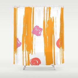 Shimmering Sunset Brushstroke Pattern Shower Curtain