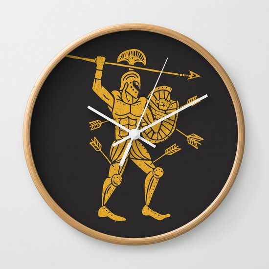 the warrior Wall Clock
