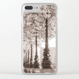 Leafy Promenade Clear iPhone Case
