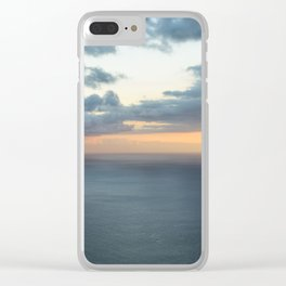 Dramatic sky and beautiful sunset over Atlantic ocean in Madeira island, Portugal. Clear iPhone Case