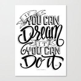 Quote - Walt 1 - Typedesign Canvas Print
