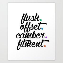 flush offset camber fitment v5 HQvector Art Print