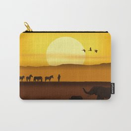 Morning in the African savannah Carry-All Pouch