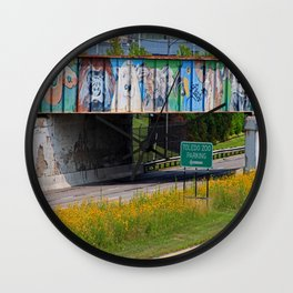 Zoo Mural Wall Clock