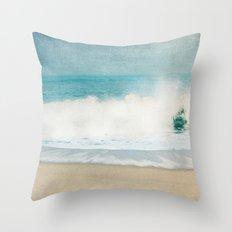 beach - ocean blues Throw Pillow