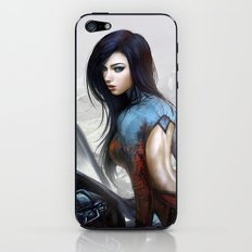 Huh... Hot girl on motorcycle iPhone & iPod Skin