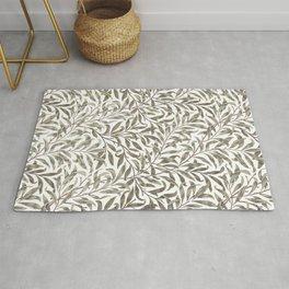 William Morris floral pattern art Rug