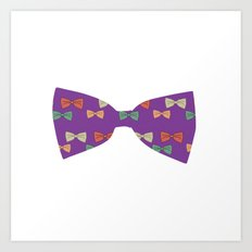 Hipster Bow Tie  Art Print