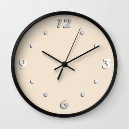 Pastels/ Baked milk Wall Clock