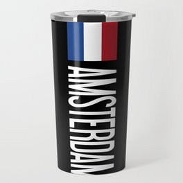 Netherlands: Dutch Flag & Amsterdam Travel Mug