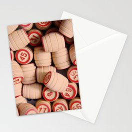 wooden crock of Russian lotto scattered Stationery Cards