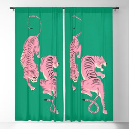 The Chase: Pink Tiger Edition Blackout Curtain