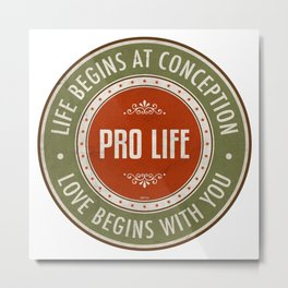 Life Begins At Conception Metal Print