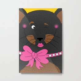 Dog Love,  kids wall art, Cute, fun prints of animals in love, Mix and Match Them!! Metal Print